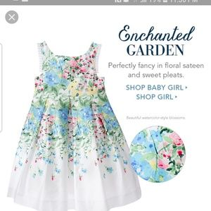 Janie and jack enchanted garden floral dress